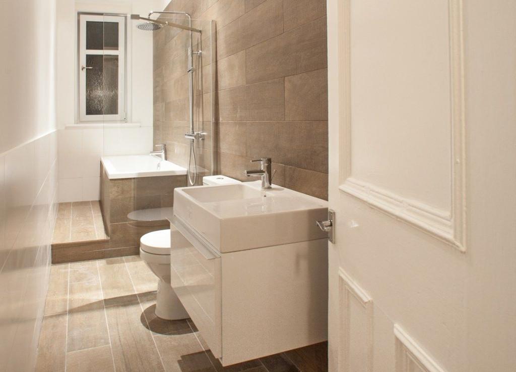 Un bagno di servizio trasformato in un intervento di ristrutturazione completa