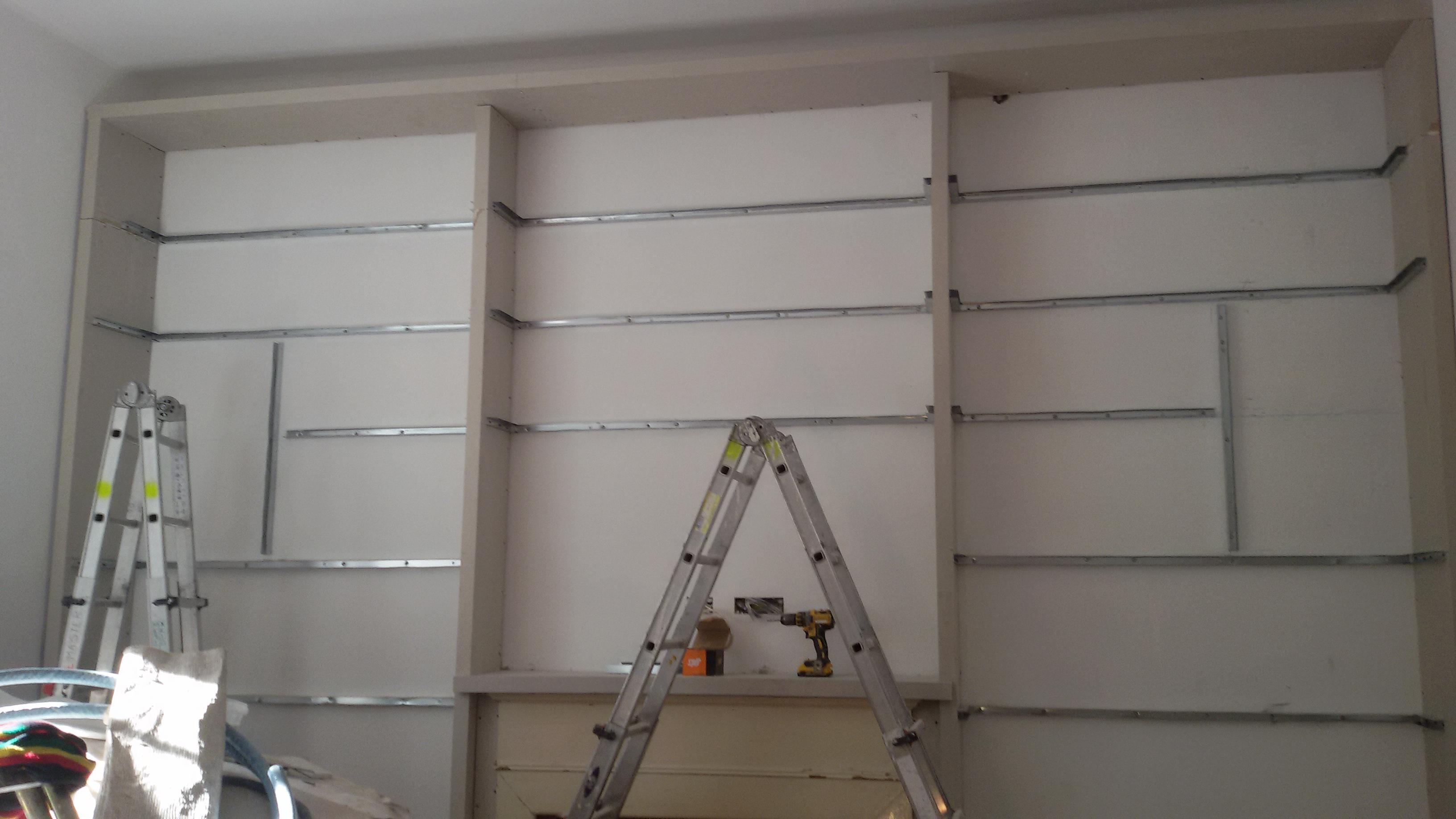 libreria cartongesso struttura